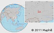 Gray Location Map of Dashabo