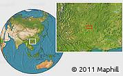 Satellite Location Map of Dashabo