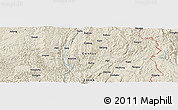 Shaded Relief Panoramic Map of Xiajiare