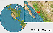 """Satellite Location Map of the area around 25°51'37""""N,107°52'30""""W"""