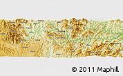 Physical Panoramic Map of Pinghuangshan