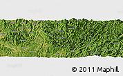 Satellite Panoramic Map of Pinghuangshan