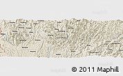 Shaded Relief Panoramic Map of Pinghuangshan