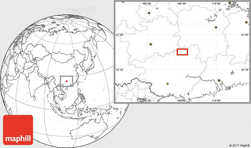 Blank Location Map Of Ankang - Ankang map