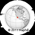 Outline Map of Comondú, rectangular outline