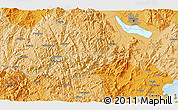 Political 3D Map of Dongying