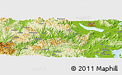 Physical Panoramic Map of Anmayang