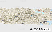 Shaded Relief Panoramic Map of Anmayang