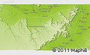 """Physical 3D Map of the area around 25°51'37""""N,32°22'30""""E"""