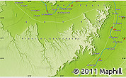 """Physical Map of the area around 25°51'37""""N,32°22'30""""E"""