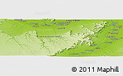 "Physical Panoramic Map of the area around 25° 51' 37"" N, 32° 22' 30"" E"