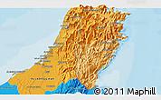 Political 3D Map of Ra's al Khaymah