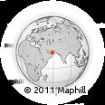 Outline Map of Banbast, rectangular outline