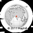 Outline Map of Bali, rectangular outline
