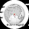 Outline Map of Sheopur, rectangular outline