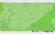 Political 3D Map of Barauni