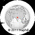 Outline Map of Narwar, rectangular outline