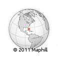 Outline Map of Bimini Islands, rectangular outline