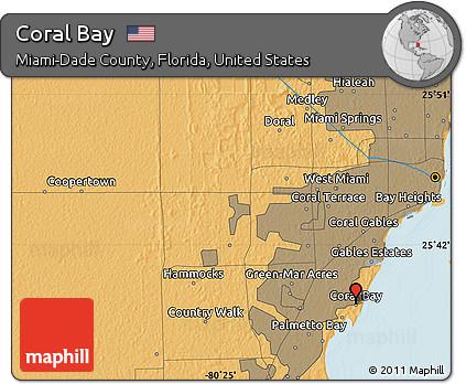 Coral Bay Florida Map.Free Political Map Of Coral Bay