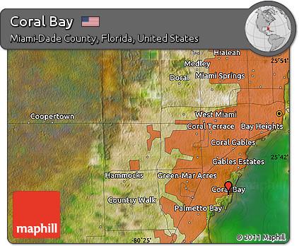 Coral Bay Florida Map.Free Satellite Map Of Coral Bay