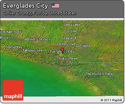 Free Satellite Panoramic Map of Everglades City