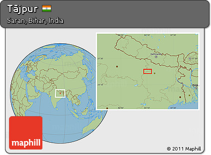 savanna style location map of tjpur