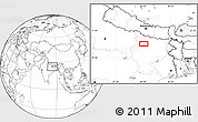 """Blank Location Map of the area around 25°51'37""""N,85°4'29""""E"""