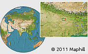 """Satellite Location Map of the area around 25°51'37""""N,85°4'29""""E"""