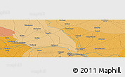 """Political Panoramic Map of the area around 25°51'37""""N,85°4'29""""E"""