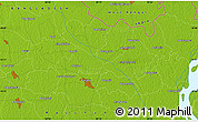 """Physical Map of the area around 25°51'37""""N,89°19'29""""E"""