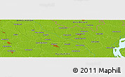 """Physical Panoramic Map of the area around 25°51'37""""N,89°19'29""""E"""