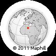Outline Map of Tassili N'Ajjer, rectangular outline
