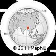 Outline Map of Khonoma, rectangular outline