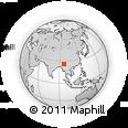 Outline Map of Hkachangkawng, rectangular outline