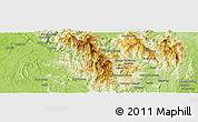 Physical Panoramic Map of Hpawngtut Gahtawng