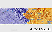 Political Panoramic Map of Hpawngtut Gahtawng