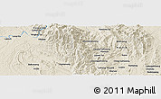 Shaded Relief Panoramic Map of Hpawngtut Gahtawng