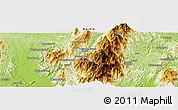 Physical Panoramic Map of Hpaulanggahtawng