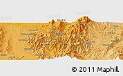 Political Panoramic Map of Hpaulanggahtawng