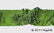 Satellite Panoramic Map of Hpaulanggahtawng