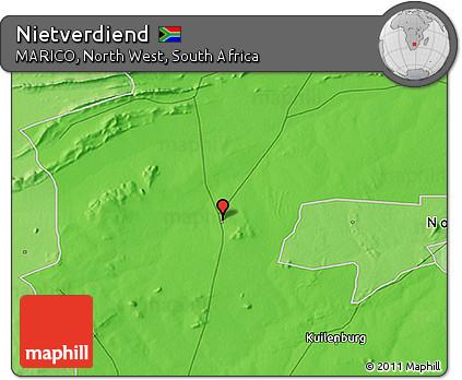 Free Political 3D Map of Nietverdiend