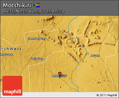 Free Physical 3D Map of Motshikiri