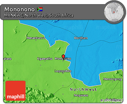 Free Political 3D Map of Mononono