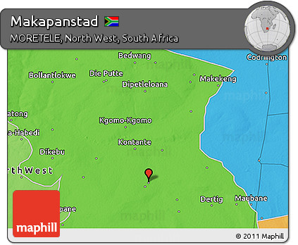 Free Political 3D Map of Makapanstad