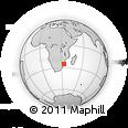 Outline Map of Xai-Xai, rectangular outline