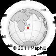 "Outline Map of the Area around 25° 2' 21"" S, 45° 7' 30"" E, rectangular outline"