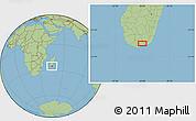 "Savanna Style Location Map of the area around 25°2'21""S,45°58'30""E"