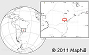 Blank Location Map of Taquari