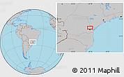 Gray Location Map of Taquari