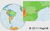 Political Location Map of Taquari